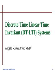Lecture 3-1 - Discrete-Time Linear Time Invariant Systems.pdf