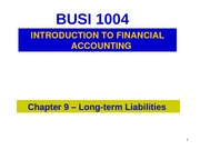 Chapter 9- Liabilities1