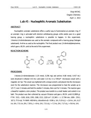 #5 Nucleophilic Aromatic Substitution
