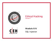 CEH v5 Module 14 SQL Injection