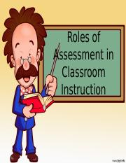 Roles of assessment