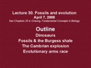 Lec30 04_07_08 Fossils and evoution