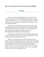 electronic medical record and hipaa essay.docx