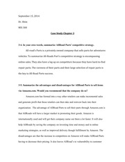 Homework - Case Study Chapter 3