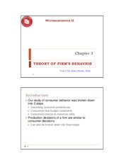 Microeconomics 2- Chapter 3- Theory of Firm_s Behavior