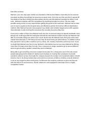 executive summary for wal mart Essays - largest database of quality sample essays and research papers on wal mart executive summary.
