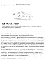 Full Wave Rectifier and Bridge Rectifier Theory.pdf