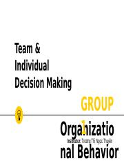 Team vs. Individual Decision Making.pptx