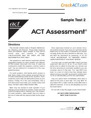 Act Sample Test 2 Www Crackact Com Pdf Practice Multiple Choice Tests 982466 Practice 982466 Practice Multiple Choice Multiple Choice Tests Tests Course Hero We found that crackact.com is poorly 'socialized' in respect to any social network. act sample test 2 www crackact com pdf