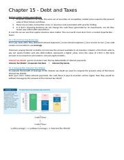 Corporate Finance Chapter 15 Summary.docx