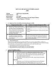 Rpp Dan Lampiran Tugas Daring Letak Dan Luas Benua Asia Pdf Rencana Pelaksanaan Pembelajaran Rpp Sekolah Mata Pelajaran Kelas Semester Materi Pokok Course Hero