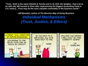 Chapter 6 - Trust Justice Ethics