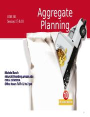 OIM-301 Session 17 & 18 Aggregate Planning Chap 13 rev 2.ppt