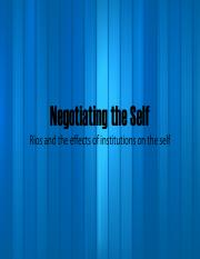 7. Institutions and the self