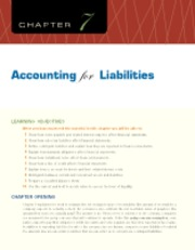 Chapter 7 Accounting for Liabilities