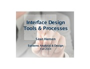 Systems Analysis and Design lecture 25 interface design part 2