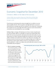 ECONOMIC SNAPSHOT FOR DECEMBER 2010