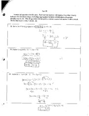 Solving Inequalities and Factoring Review