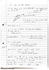 Equations of Lines Class Notes