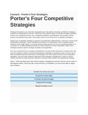 Connect - Porter's Four Strategies 2