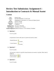 Introduction to Contracts & Mutual Assent.docx