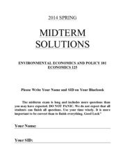 2014 Midterm w: Solutions