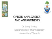Opioid analgesics and antagonists 2010Bb