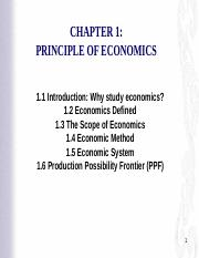 Chapter 1 Principles of Economics 1