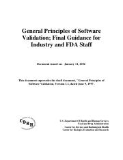 FDA_Software_validation