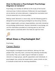 How to Become a Psychologist Psychology Degrees & Careers