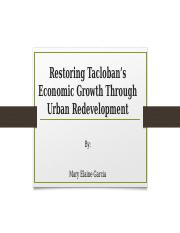 Restoring Economic Growth Through Urban Redevelopment powerpoint presentation.pptx