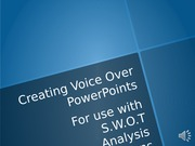 Voice-Over PowerPoint