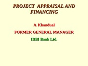PROJECT APPRAISAL AND FINANCING-GF-Aug-04-2014