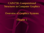 Overview of graphics systems (1)