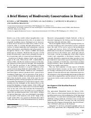 A Brief History of Biodiversity Conservation In Brazil.pdf