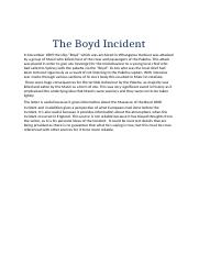 The Boyd Incident