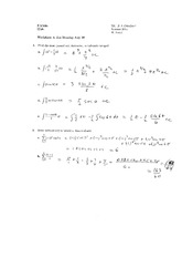 Worksheet 8 Solution on Calculus 1