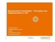 Haustein_Measurement uncertainty _ Principles and implementation in QC
