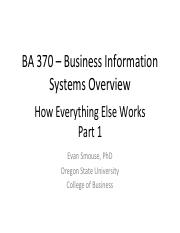 BA370 Week 5 How Everything Else Works 1