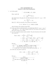 ECON 527 Fall 2014 Final Exam Solutions