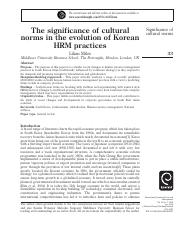 The significance of cultural norms in the evolution of Korean HRM practices.pdf