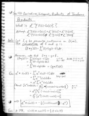 Section 4.4 - Derivatives, Integrals, and Products of Transforms