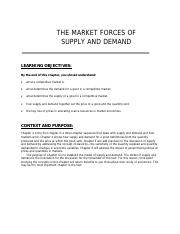 Chapter 4 Market Forces of Supply and Demand