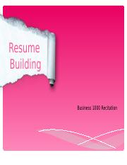 Resumes- Week 8.ppt