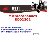 ECO2201 - Topic 1 - The Nature and Method of Economics SH