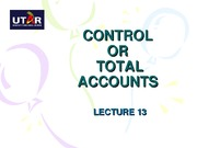 BA1 L13 Control accounts
