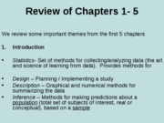 Review of Chapters 1-5