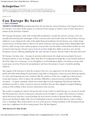 The Road to Economic Crisis Is Paved With Euros - NYTimes Jan 12 2011