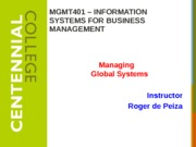 Class11 - Managing Global Systems