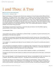 I and Thou: A Tree - My Jewish Learning